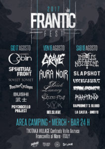Frantic Fest - 17/18/19 agosto Francavilla Al Mare